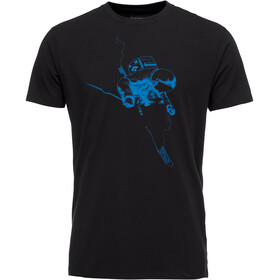 Black Diamond Faceshot Kurzarm T-Shirt Herren black bluebird